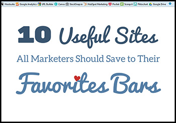 10 Useful Sites All Marketers Need in Their Favorites Bars