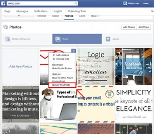 How to delete a photo from Facebook, part 2.