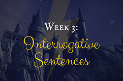 Learning Grammar through Reading: Harry Potter Week 3