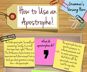 Learn English Grammar: How to Use an Apostrophe
