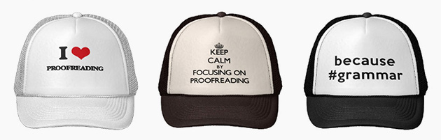 Proofreading Hats