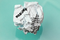 A crumpled resume.