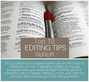 Top 10 Editing Tips