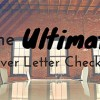 The Ultimate Cover Letter Checklist